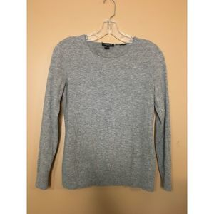Lafayette 148 New York Gray Sweater Crew Neck XS